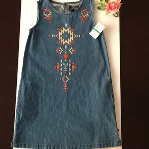 HP!!!🎀🎉 Lucky Brand Denim Dress size L 12 -14
